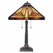 Stephen Table Lamp in Vintage Bronze and Tiffany Glass - QUOIZEL QZ/STEPHEN/TL